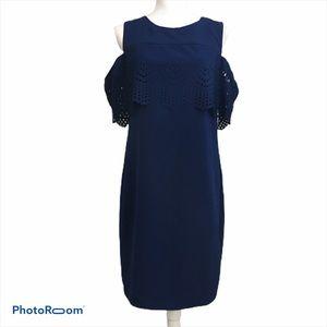 AB Studio laser cut cold shoulder dress. Sz 8